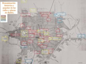 Denominación histórica y popular de las calles y plazas de Bailén.
