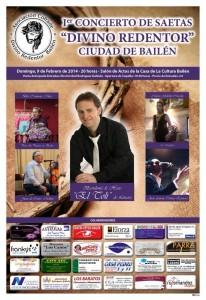 Cartel del primer concierto de saetas organizado por la Asociación cofrade Divino Redentor