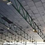 Las goteras vuelven al pabellón de deportes 28 de febrero
