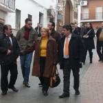 El Presidente de la Diputación visita Bailén para reabrir la calle del Santo Cristo tras las obras de adecuación