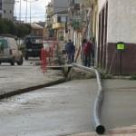 La calle Linares cortada por obras