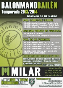 Cartel - Jornada Balonmano Bailén