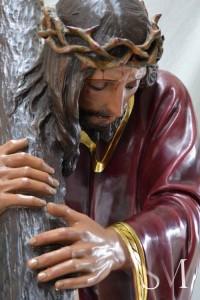 Imagen de Nuestro Padre Jesús Nazareno una vez llegada a los talleres cordobeses