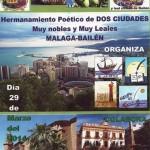La poesía y la cultura acercan a Bailén y Málaga este sábado
