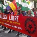 La asamblea local de IU, presente en la movilización regional del 28-F en Sevilla