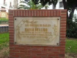 Placa conmemorativa en Glorieta Virgen de Zocueca, La Carrera