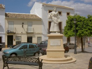 Monumento a María Bellido en Porcuna, inaugurado en 2010