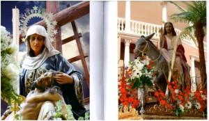 Nuestra Señora de La Piedad (1985, realizada por una empresa de Olot) y Jesús a su Entrada en Jerusalén (o La Mulica, 1949).