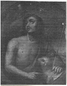 San Juan Bautista, óleo.