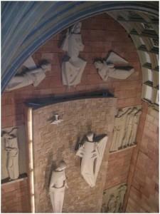 Retablo modernista. (Foto del archivo del Instituto de Estudios Bailenenses, IEB).