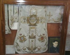 Casulla del mártir bailenense don José María Martín Acuña