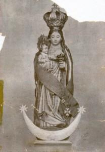 Imagen antiquísima de la Virgen de Zocueca destruida en 1936
