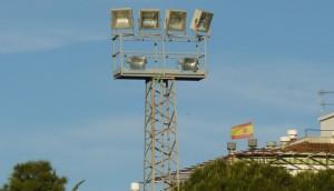"""Torreta de focos en el Campo Municipal """"19 de Julio"""""""