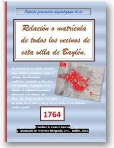 Libro Villa Baylén 1764