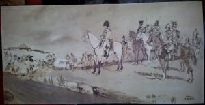 La Batalla de Bailén, pirograbado. Francisco Arias