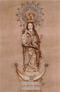 Virgen de Zocueca, estampa. Francisco Arias. Calendario 2014