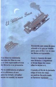 El último tren, con precioso poema de su autoría. Francisco Arias