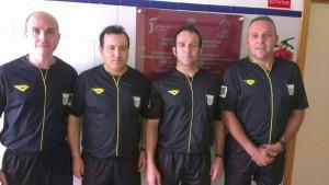 Gabriel y José Antonio Pérez Garzón, primero y segundo por la derecha.