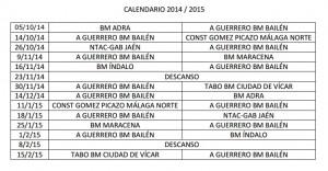 Calendario BM Bailén