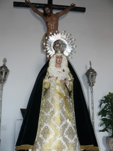 Ntra. Sra. de los Dolores y el Cristo del Buen Morir en la Ermita de la Soledad