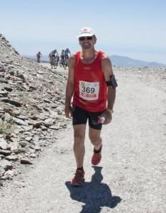 Luis Pérez Cano en el momento de la subida al Pico Veleta