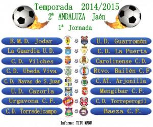 Calendario de la 1ª jornada del campeonato