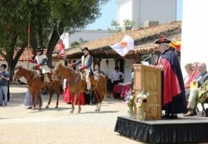 Ceremonia de fundación del Presidio de Santa Bárbara (21 de abril 1782), Michael R. Hardwick como Phelipe de Neve
