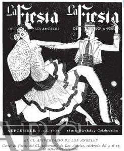 Cartel de Fiestas del 150 aniversario de la fundación de Los Ángeles. Septiembre de 1931