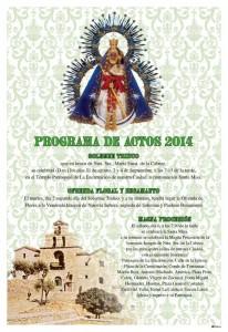 Cartel Programa de Actos Virgen de la Cabeza