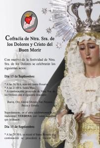 Cartel Velada Virgen de los Dolores