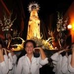 Las costaleras y la nueva vestidura protagonistas en la velada de la Virgen de los Dolores