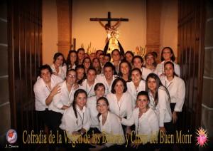 Cuadrilla de costaleras de Ntra. Sra. de los Dolores. Foto Juan Simón
