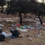 Los romeros dejan tras de sí 40 toneladas de basura en Zocueca