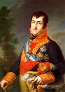 El rey Fernando VII.