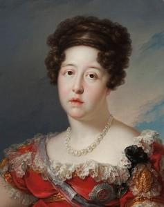 Mª Isabel de Braganza, cuadro de  Vicente López Portaña, 1826. Museo del Prado.