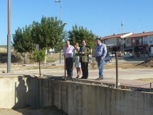En su visita conocieron el estado de las obras de la Huerta San Lázaro