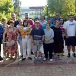 Usuarios del taller ocupacional conocen el museo y el jardín botánico de Bailén
