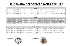 Enfrentamientos II Jornada Deportiva Santa Cecilia
