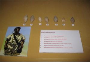 Glandes hallados en Las Piedras del Cardado, escenario bélico