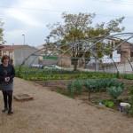La diputada de Agricultura visita los huertos sociales de Bailén