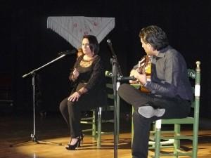 La bailenense Ana María Carmona en su actuación de la final.