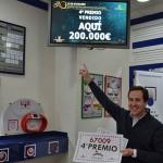 El cuarto premio del Sorteo Extraordinario de Navidad se queda en Bailén