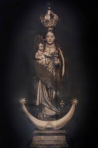 Antigua imagen de Ntra. Sra. de Zocueca, destruida en 1936. Reproducción de José Mª García -Foto Narciso- de imagen facilitada por Miguel Antonio Sanz Jiménez