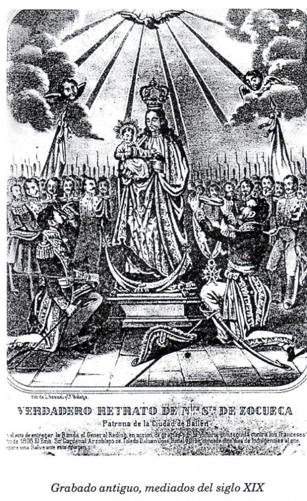 «Verdadero retrato de Ntra. Sra. de Zocueca. Patrona de la Ciudad de Bailén», mediados del XIX