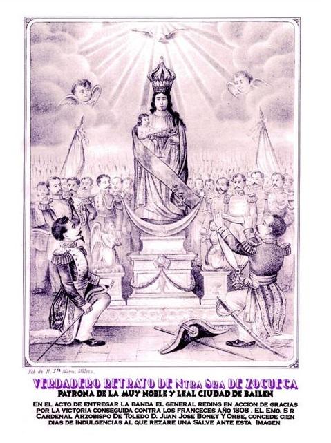 «Verdadero retrato de Ntra. Sra. de Zocueca. Patrona de la Muy Noble y Leal Ciudad de Bailén», finales del XIX