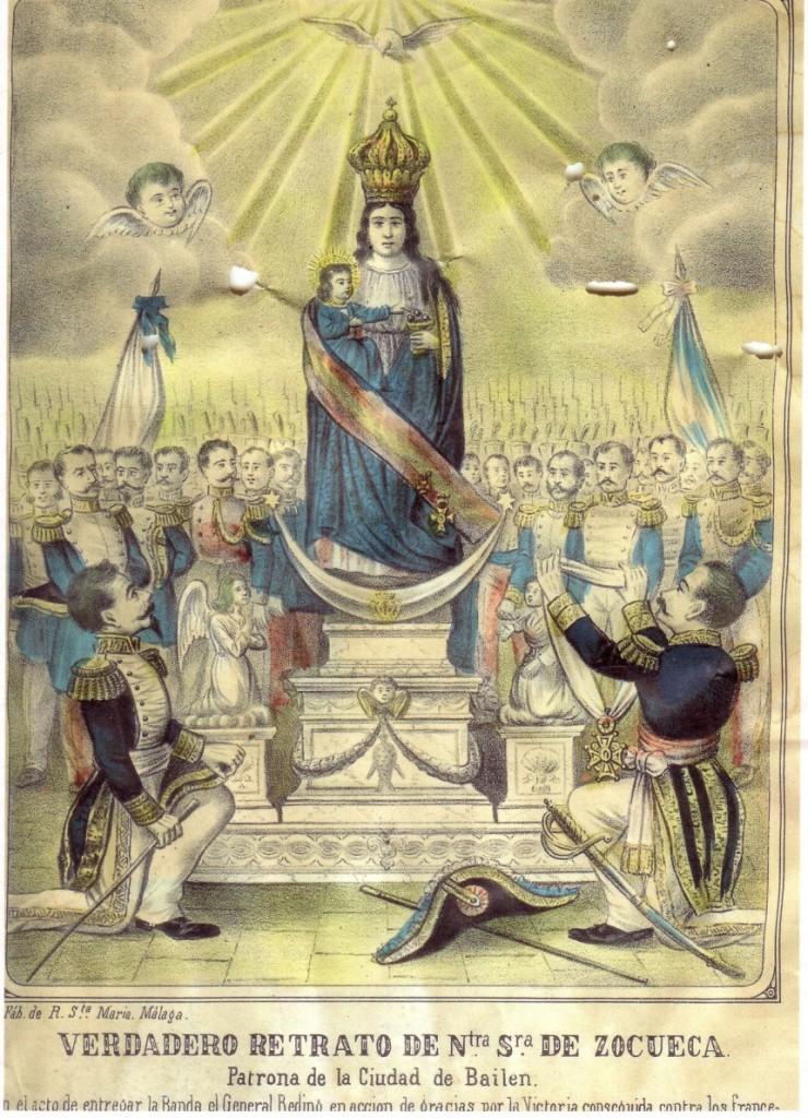 «Verdadero retrato de Ntra. Sra. de Zocueca. Patrona de la Ciudad de Bailén», finales del XIX