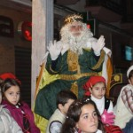 Los Reyes Magos a punto de llegar a Bailén