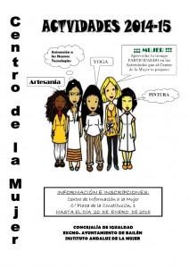 Cartel cursos Centro Mujer