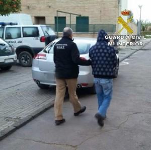 El detenido, en una imagen de la Guardia Civil