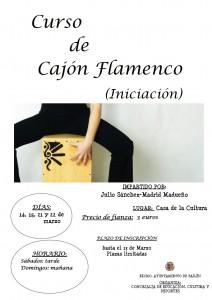 Cartel taller de cajón flamenco